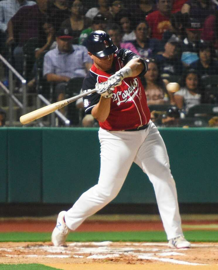 Tecolotes Dos Laredos designated hitter Balbino Fuenmayor is hitting .320 with 16 home runs and 50 RBIs at the midway point of the season. Photo: Danny Zaragoza /Laredo Morning Times File