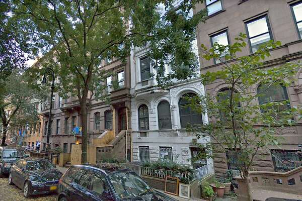 West 69th Street in New York City has been subjected to construction noise for months as a millionaire couple builds a pool for their brownstone.