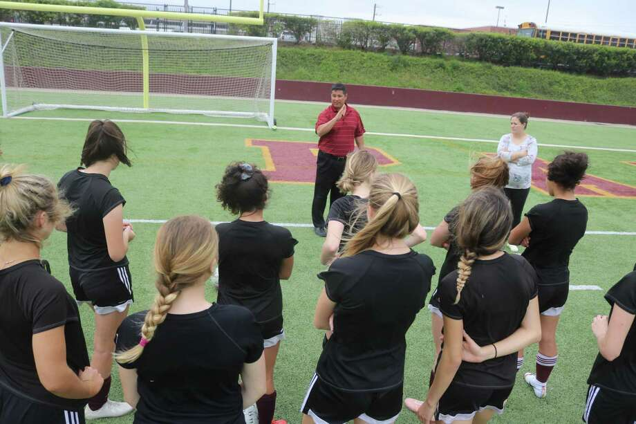 Coach Jesse Saavedra and the Lady Deer were the last hope that a Deer Park team would be competing at this weekend's Region III Final Four right here in town. But their 3-1 loss to a very strong Kingwood nixed that idea. Photo: Robert Avery