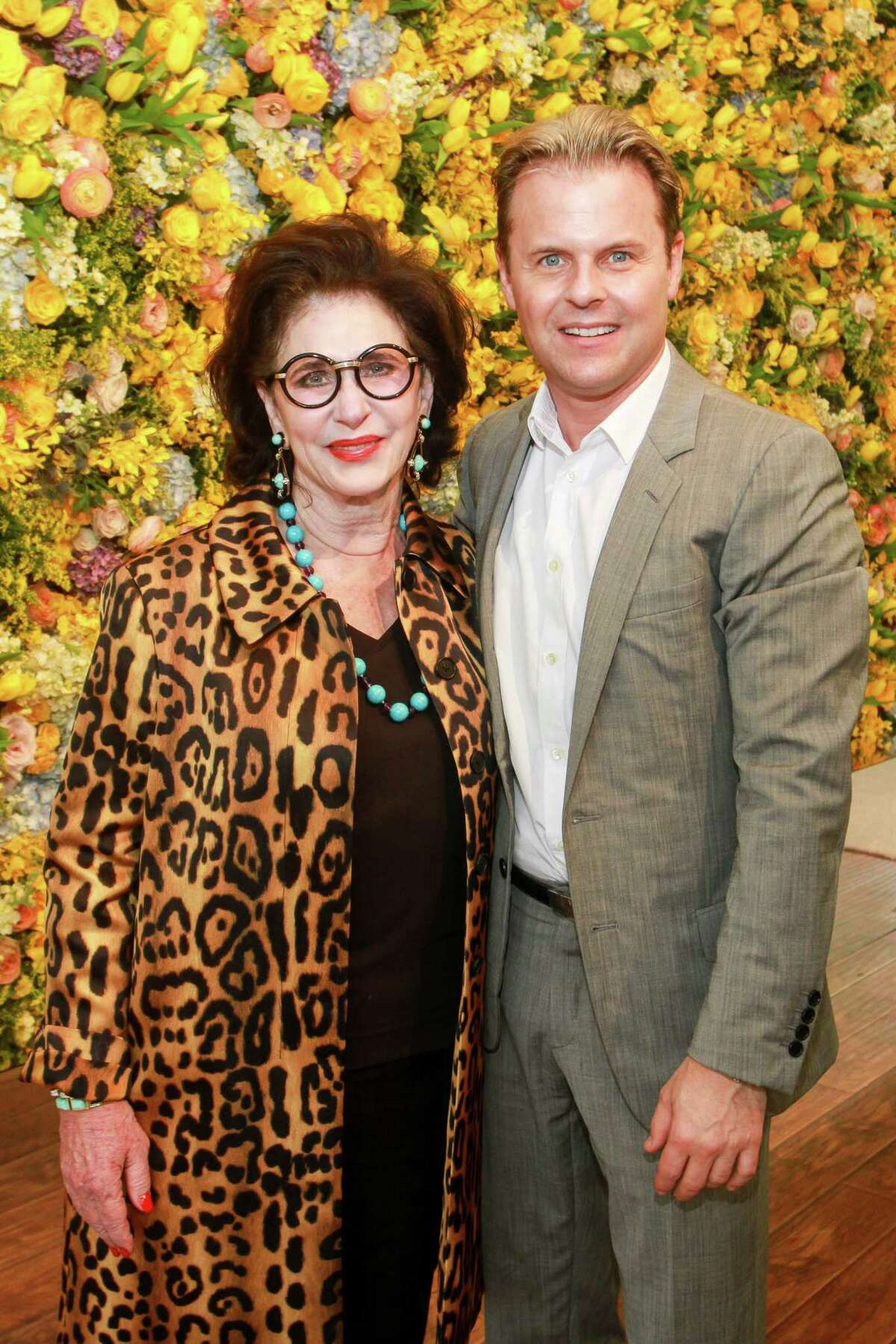 Chair Elyse Lanier and designer Adam Lippes at MFAH's Bayou Bend fashion show and luncheon.