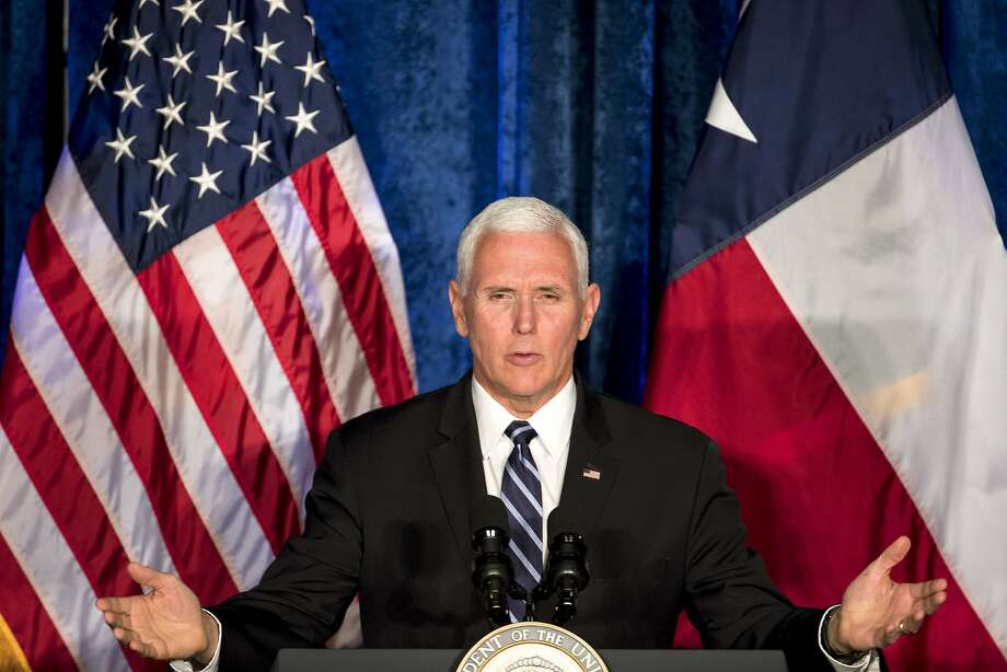 Vice President Mike Pence will visit the Permian Basin today to tour an oil rig operated by Midland-based Diamondback Energy and attend a fundraiser in Midland.  Photo: Brett Coomer, Staff Photographer