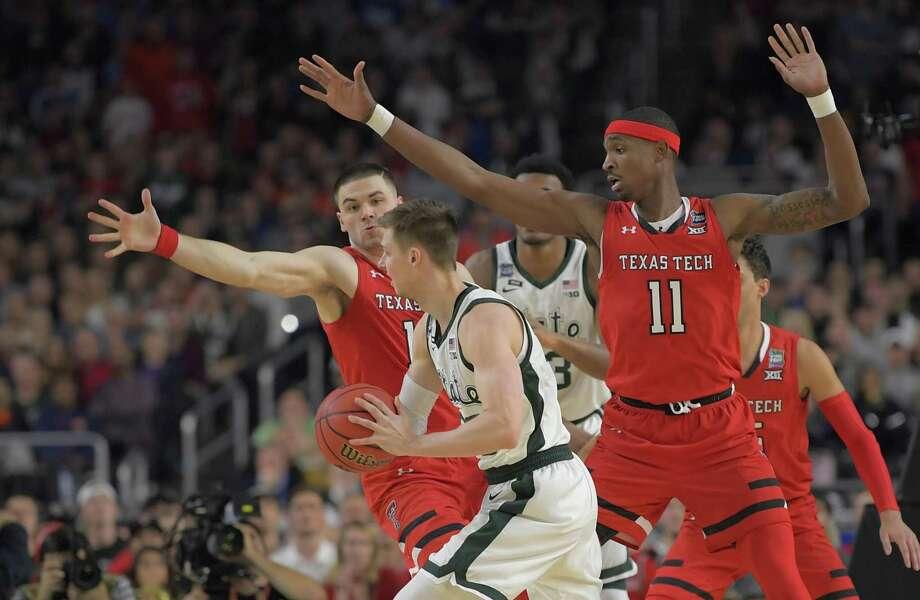 Matt McQuaid, front, and his Michigan State teammates were the latest victims of Texas Tech's defense. Photo: John McDonnell / The Washington Post / The Washington Post