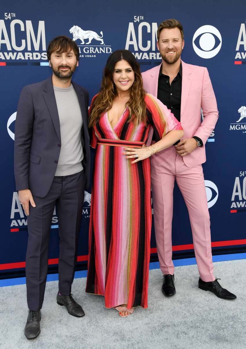 LAS VEGAS, NEVADA - APRIL 07: (L-R) Dave Haywood, Hillary Scott, and Charles Kelley of Lady Antebellum attend the 54th Academy Of Country Music Awards at MGM Grand Hotel & Casino on April 07, 2019 in Las Vegas, Nevada. (Photo by Ethan Miller/Getty Images)