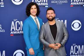 LAS VEGAS, NEVADA - APRIL 07: (L-R) Dan Smyers and Shay Mooney of Dan + Shay attend the 54th Academy Of Country Music Awards at MGM Grand Hotel & Casino on April 07, 2019 in Las Vegas, Nevada. (Photo by Jeff Kravitz/FilmMagic)