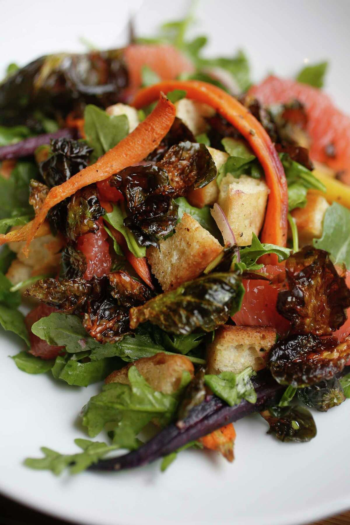 Market vegetable salad at The Roastery, 5895 San Felipe.