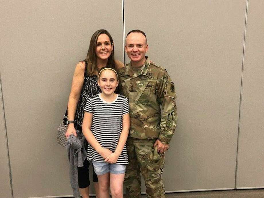 Bethel Police Det. Frank O'Farrell with his wife, Jennifer, and daughter, Maddie. Photo: Bethel Police Department / Facebook