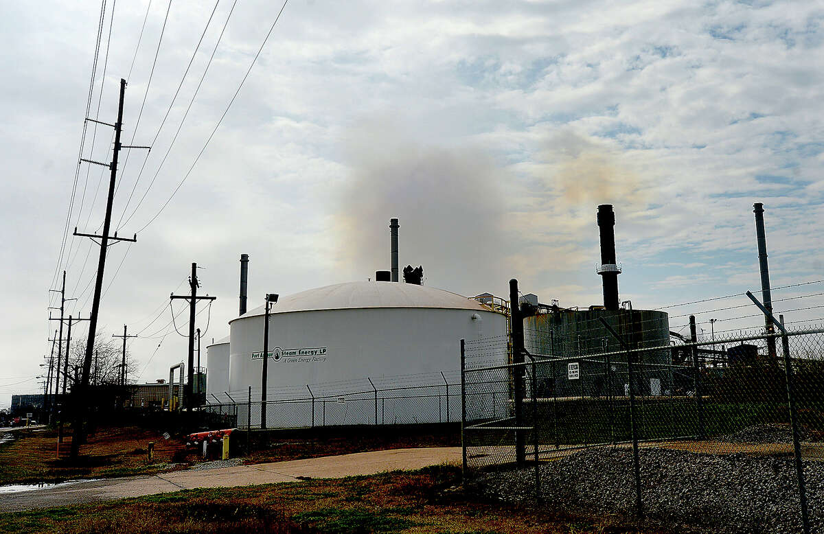 Oxbow Calcining, LLC, plant in Port Arthur operates recently. Photo taken Friday, February1, 2019 Photo by Kim Brent/The Enterprise