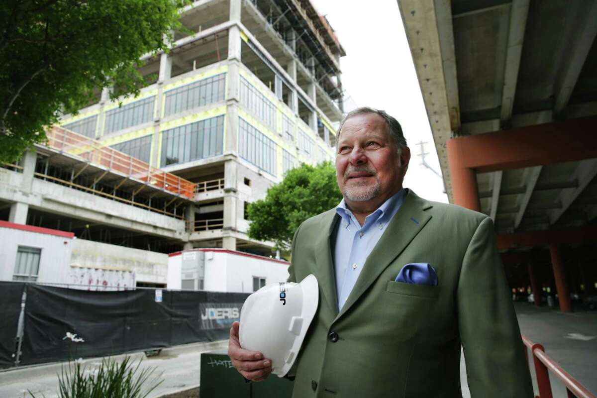 Gary Joeris of Joeris General Contracting is building the Credit Human Building at the Pearl, Monday, April 1, 2019.