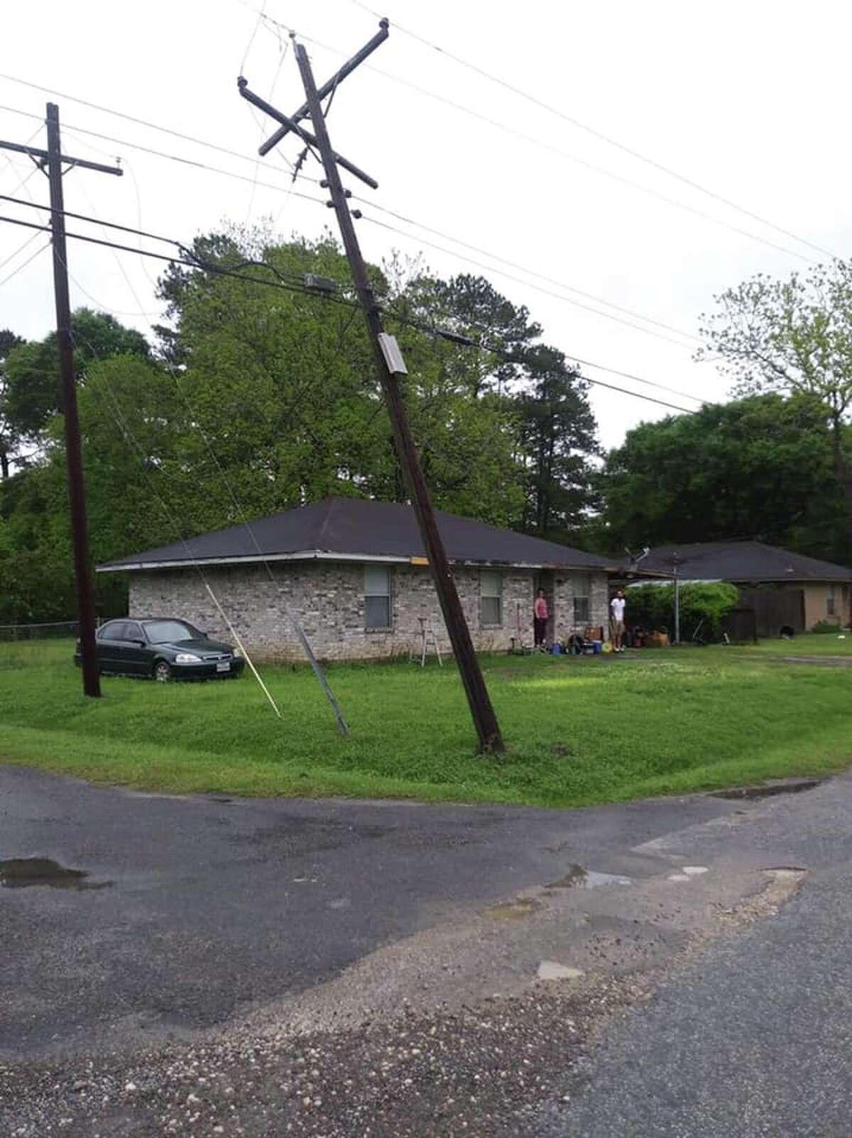 Power lines came dangerously close to striking some Dayton area homes. Photo courtesyTamara Lynn Sayeh