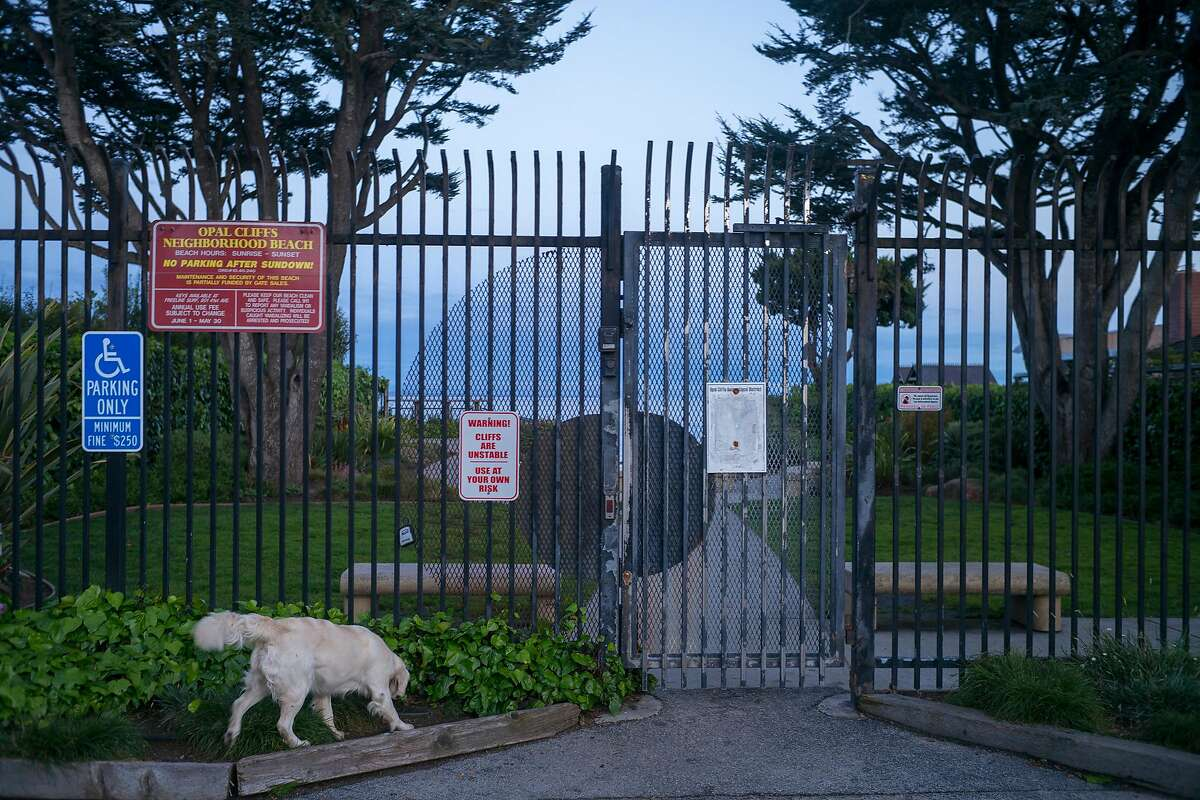 A gate to Privates beach on Opal Cliffs Drive in Capitola, Calif. on April 5, 2019.