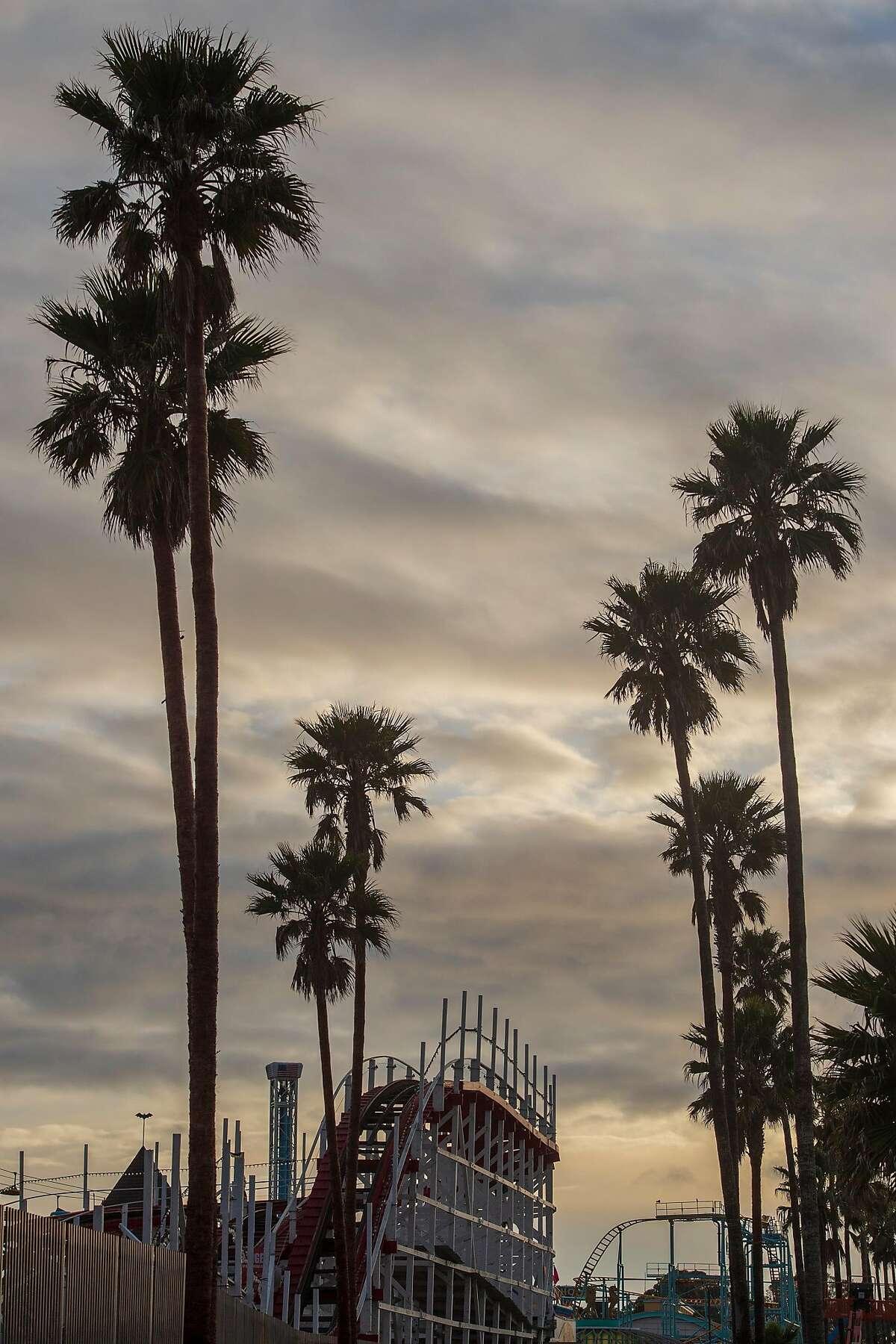 FILE - The Santa Cruz Beach Boardwalk in Santa Cruz, Calif. on April 5, 2019.