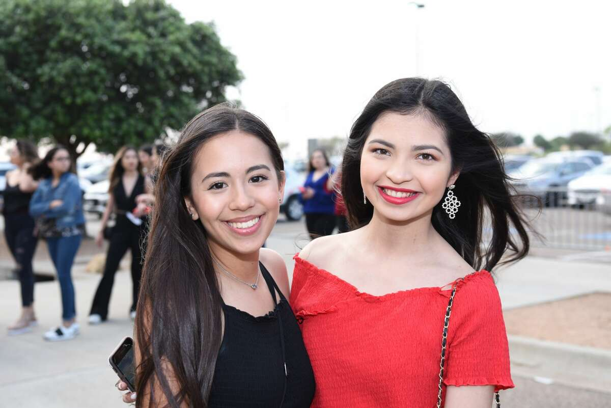 Jacqueline Gara and Yesenia Puente pose for a photo during the Bad Bunny concert.