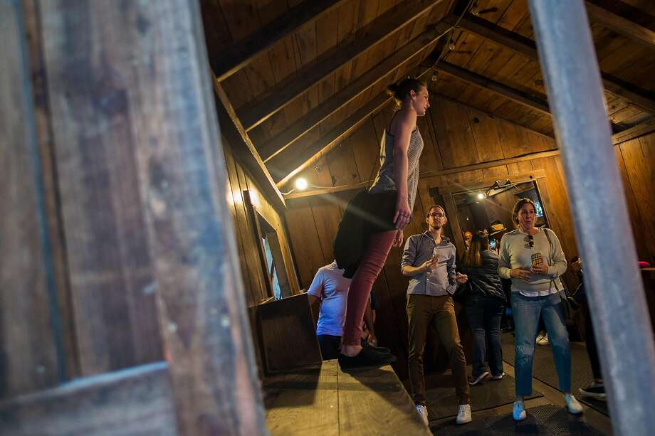 The Mystery Spot in Santa Cruz, Calif. Photo: Nic Coury / Special To The Chronicle