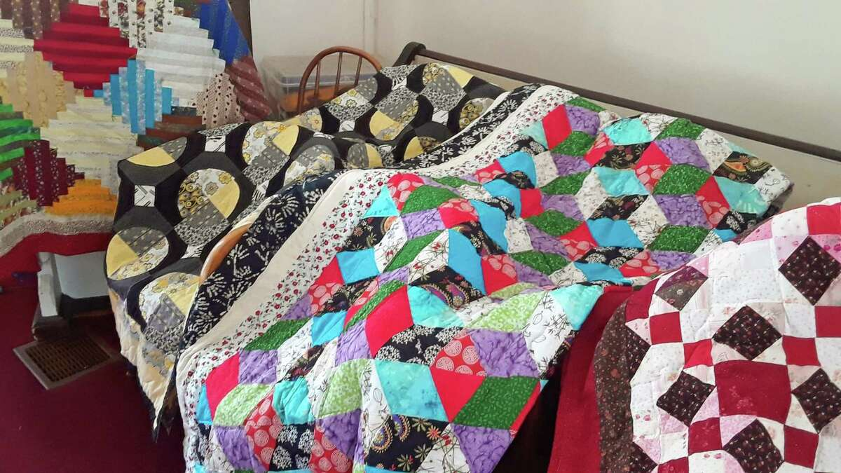 The Haddam Neck Congregational Church quilt show was sponsored by the Haddam Historical Society.