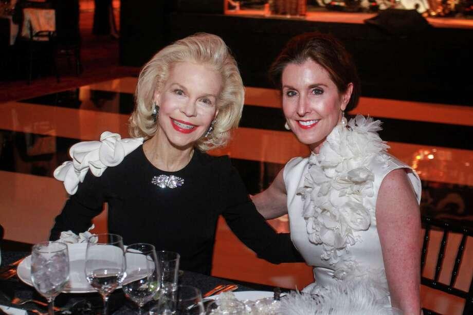 Lynn Wyatt, left, and Phoebe Tudor at the Society for the Performing Arts Black & White Ball. Photo: Gary Fountain, Contributor / © 2019 Gary Fountain