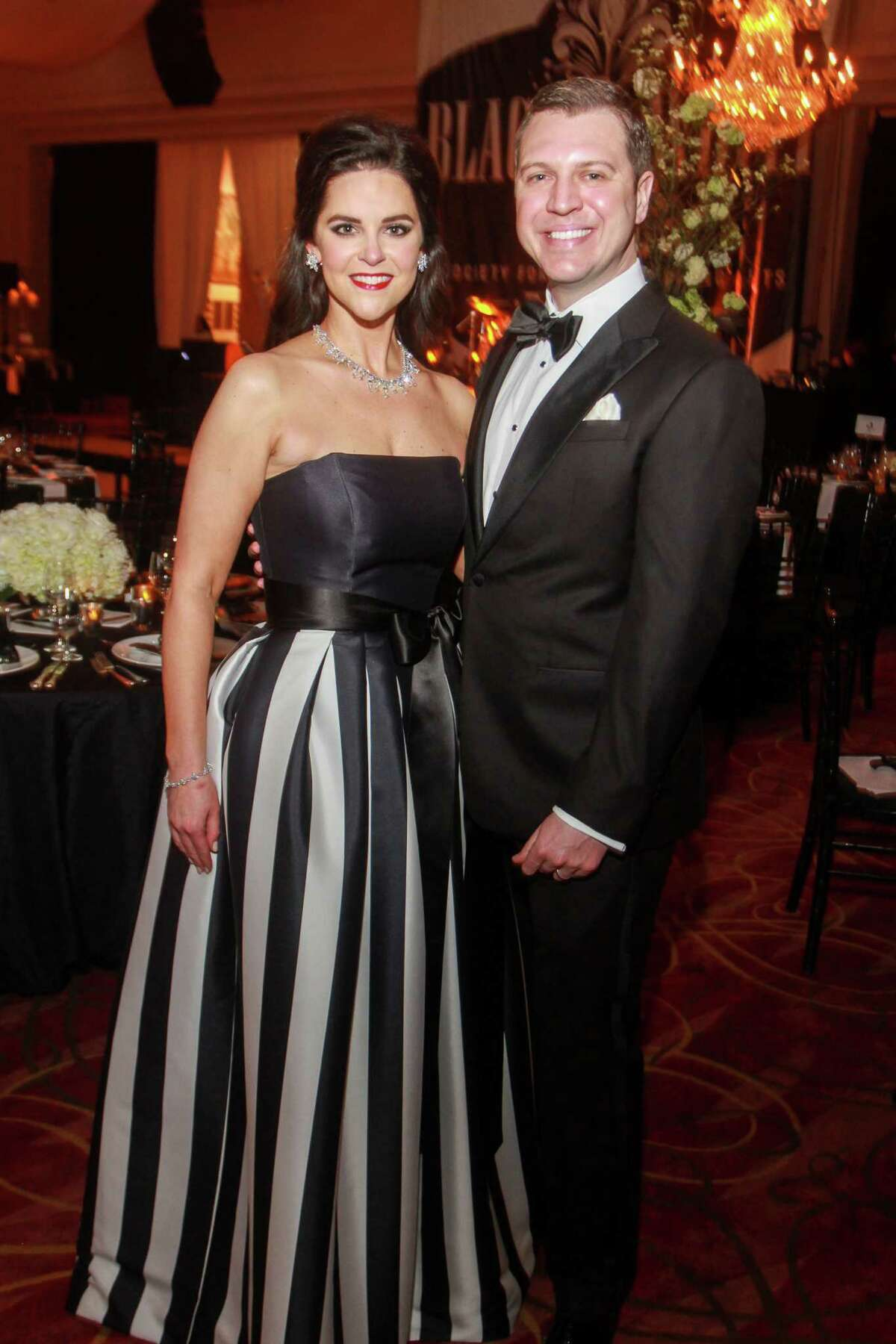 Ann and Jonathan Ayre at the Society for the Performing Arts Black & White Ball.