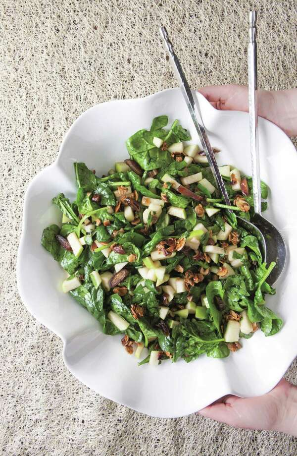 """Charoset Salad charoset-inspired salad, with all of the flavors you expect to find: cinnamon, wine, nuts, apples and more. Photo: """"Perfect For Pesach"""" By Naomi Nachman, Photos By Miriam Pascal, Artscroll / Shaar Press / March 2017"""