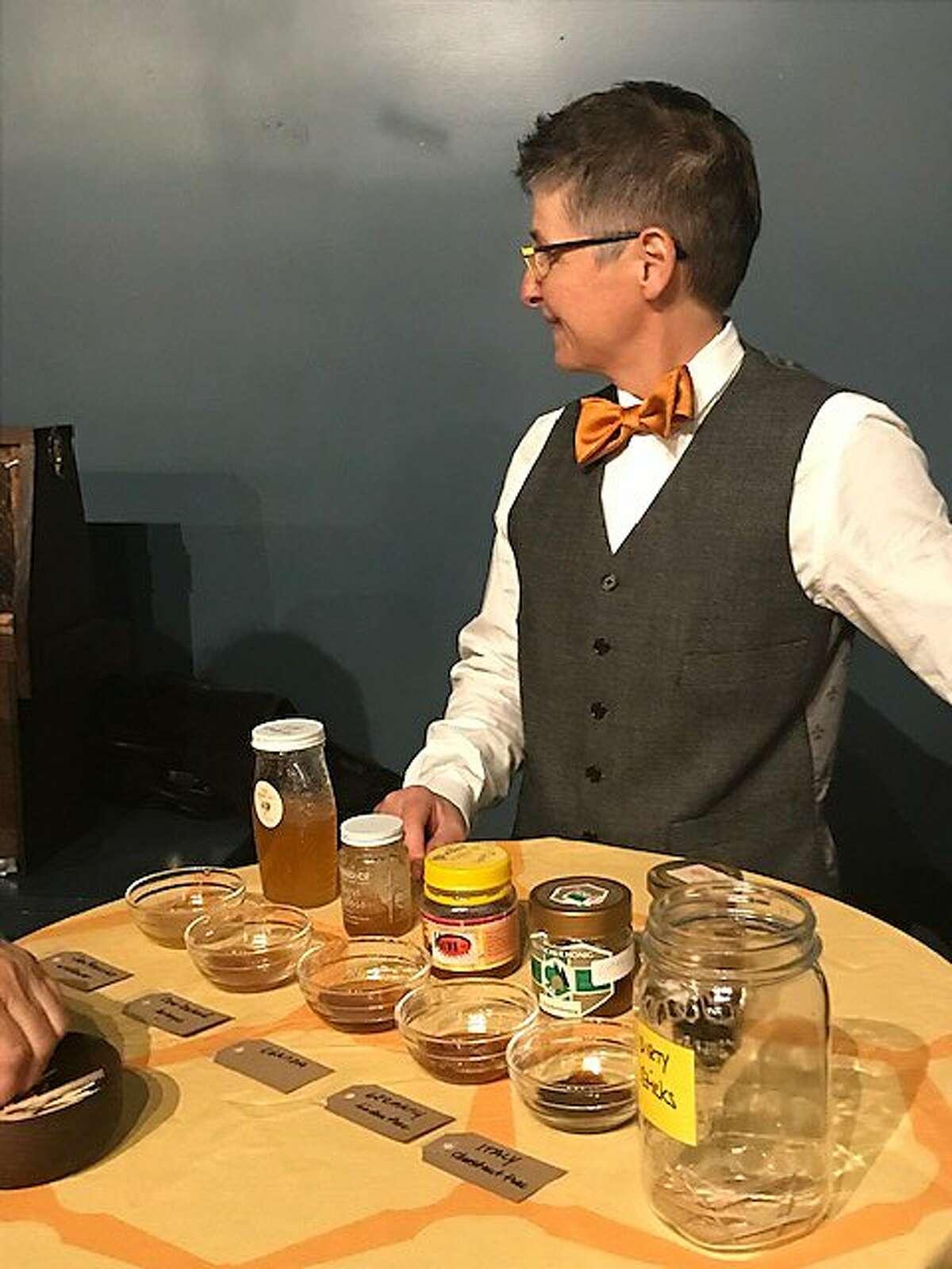 Jenn Jackson is honey sommelier at party for 'The Honey Bus'