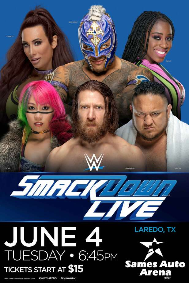 WWE SmackDown LIVE is set to return to Laredo June 4 at 6:45 p.m. Photo: Courtesy Sames Auto Arena