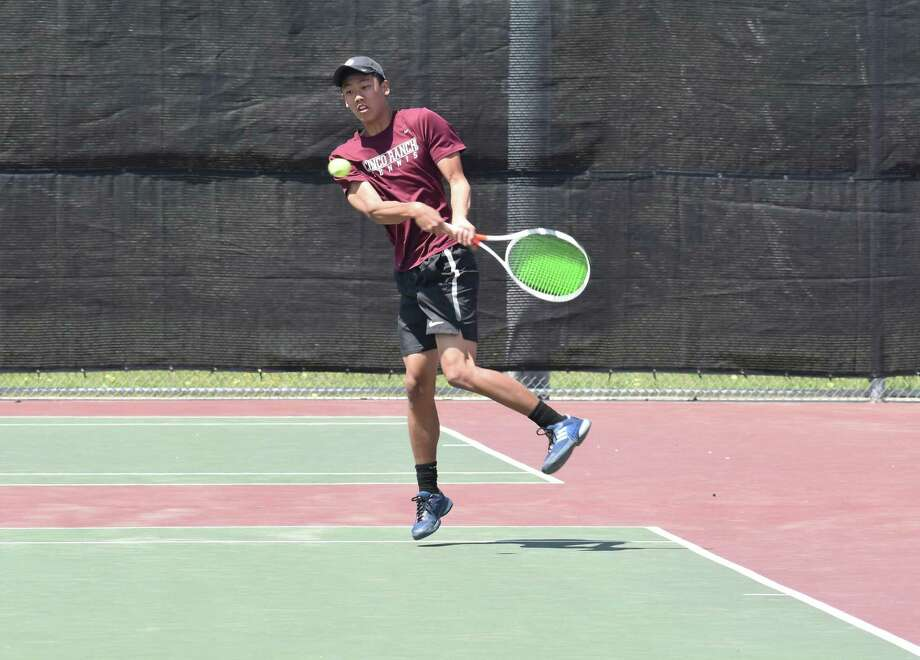 Cinco Ranch's Brian Wan was the District 19-6A boys singles runner-up, advancing to his third consecutive Region III-6A Tournament. Photo: Cinco Ranch High School / Cinco Ranch High School