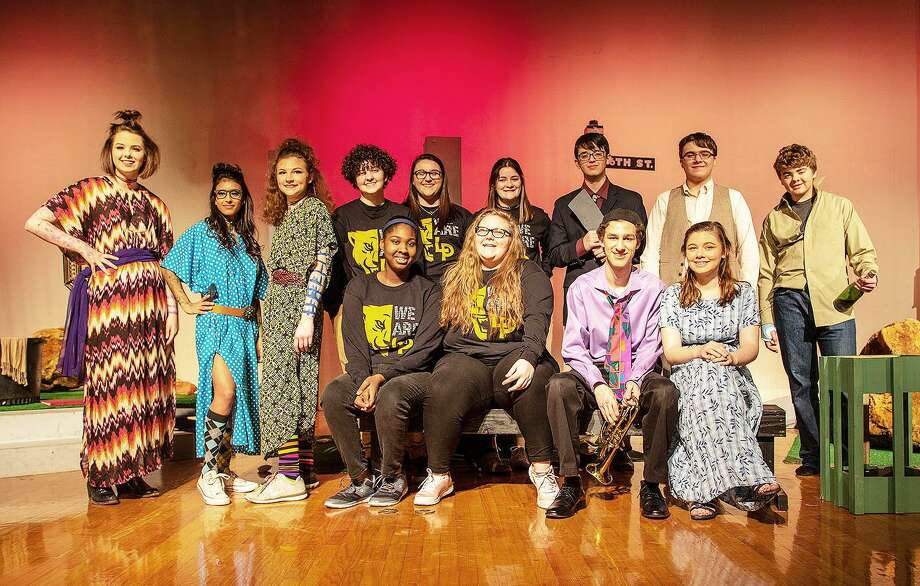 The Panther Players competed at One Act Play and garnered several individual awards. Players are back row, from left, Reagan Mayo, Aliyah Banda, Avery Bendele (All-Star Cast), Isaac DeBerry, Laurel Litton, Kori Tulley, Tanis Grimes, Zackery Partain, and Tucker Schilling. Front row, Leandrya Wilson, Jordyn Cline (All-Star Tech Crew), Nolan Myers (Honorable Mention All-Star Cast), and Sage Drinkard. Photo: Submitted