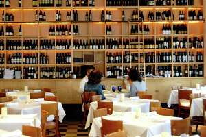 The dining room at Ibiza Food & Wine Bar in Midtown