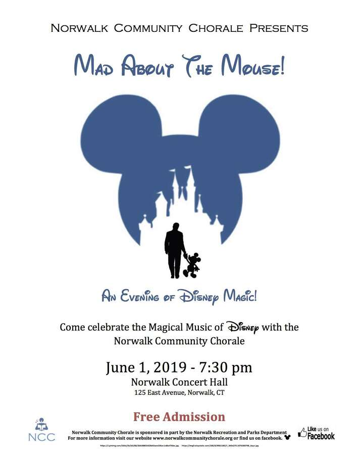 """Norwalk Community Chorale is presenting """"Mad About The Mouse: An Evening Of Disney Magic"""" at Norwalk Concert Hall June 1. Photo: Norwalk Community Chorale / Contributed Photo"""