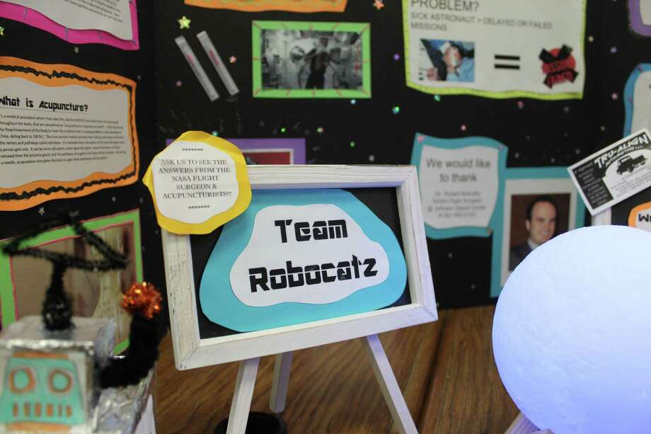 It was passion and persistence that got the attention of NASA when a team of seven students from Cryar Intermediate School in Conroe part of the FIRST LEGO League RoboCatZ team created a possible solution for astronauts who get dizzy and sick in space. Photo: Jane Stueckemann / The Villager