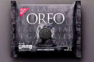 The packaging for 'Game of Thrones' Oreos