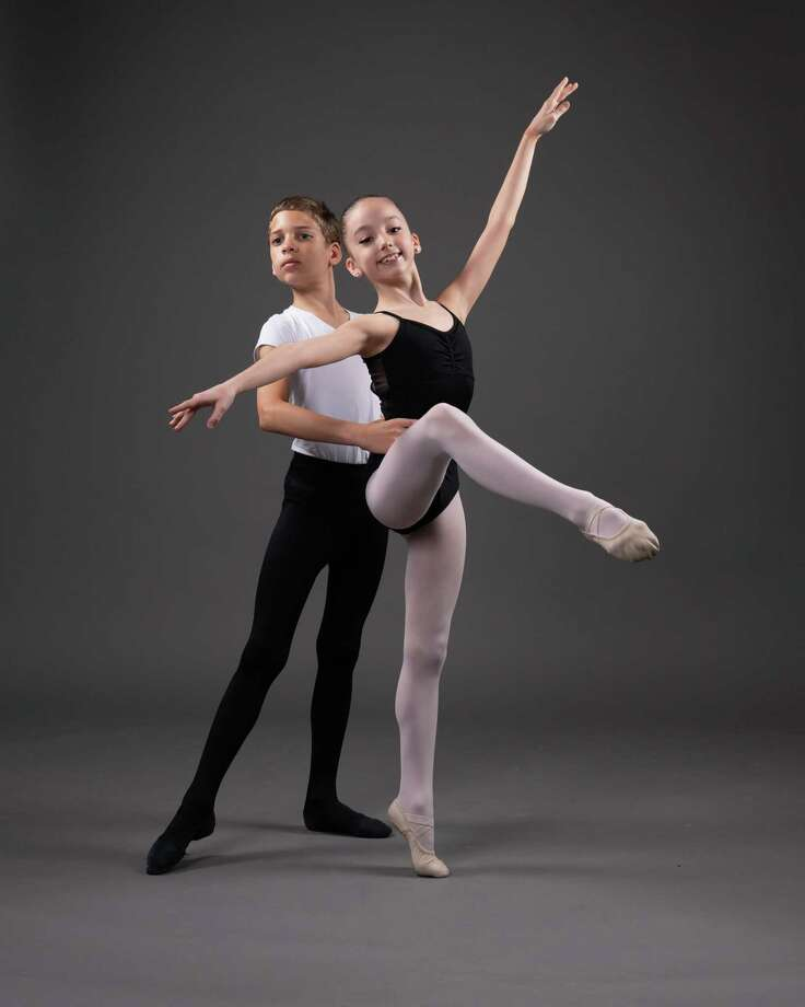Jeremy Emslie, 11, and Camille Dowling, 9, will compete in the Youth America Grand Prix international finals April 12-20 in New York City. Dowling will perform two solo dances in addition to teaming with Emslie in a duet. Photo: Courtesy Photo / / Alexander Devora Photography 2019