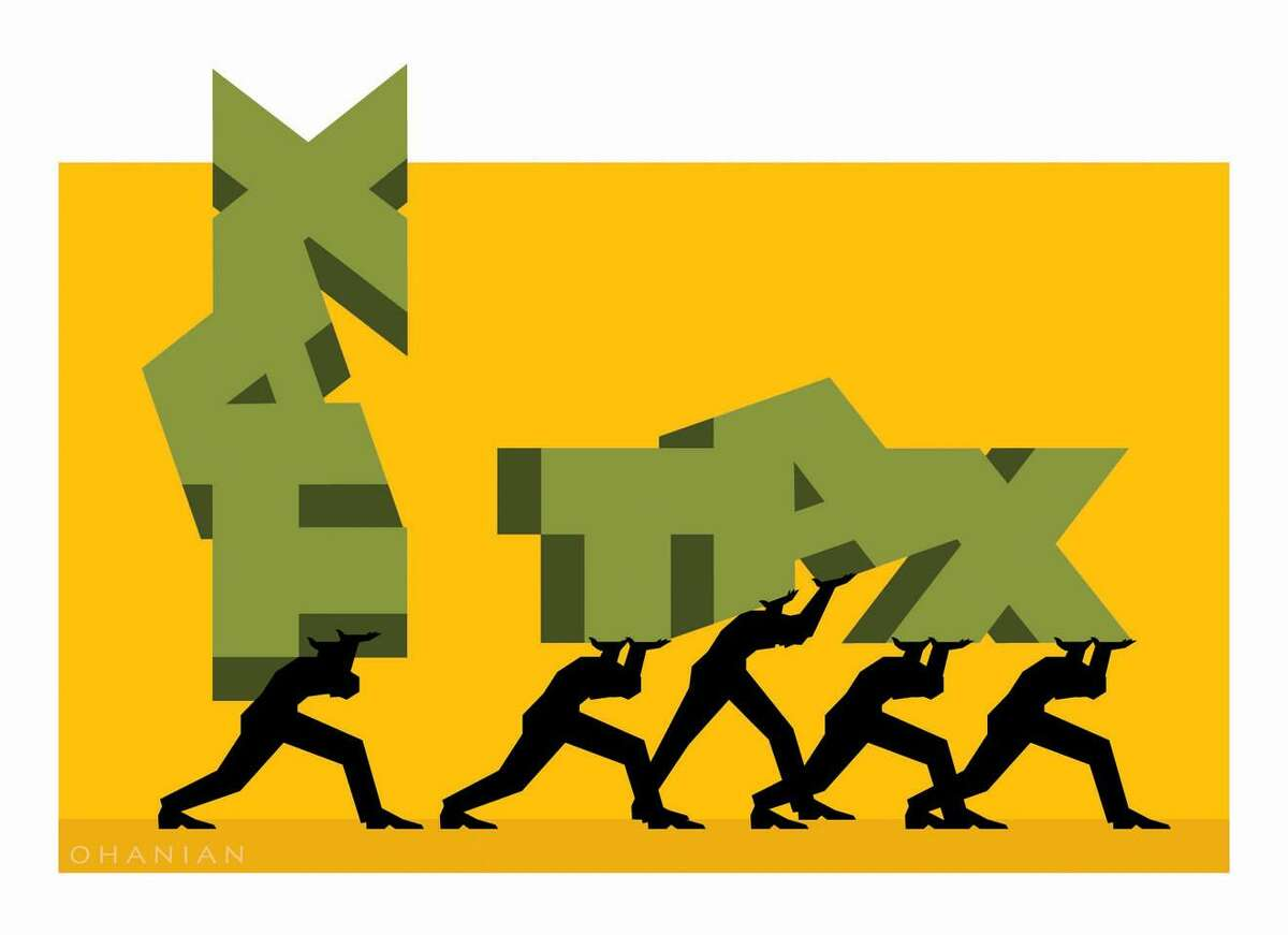 """This artwork by Nancy Ohanian relates to President Obamas efforts to shift a greater tax burden onto welathy Americans with his so-called """"millionaire tax."""""""
