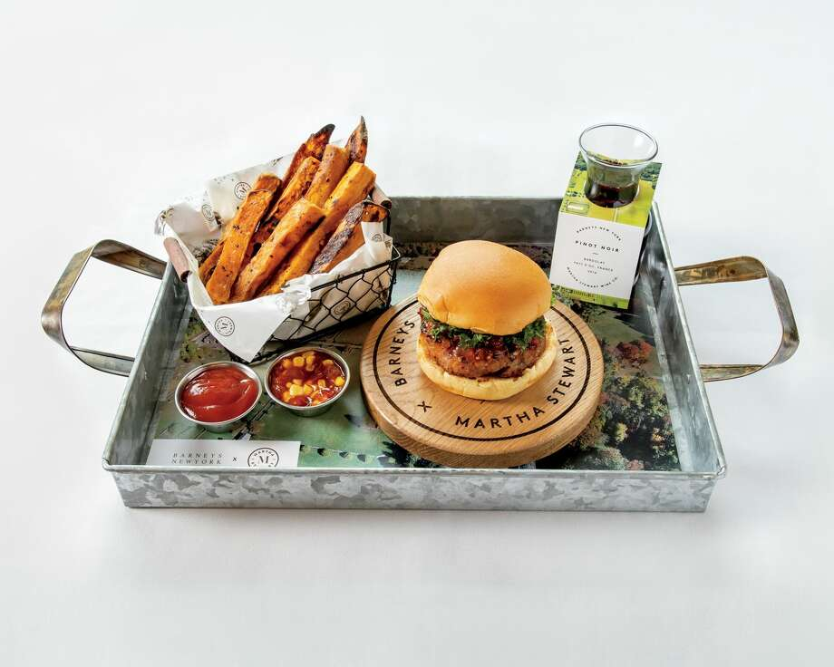 The Martha Stewart Burger is being served at Freds in San Francisco's Barneys store through mid-May. Photo: Courtesy: Barneys