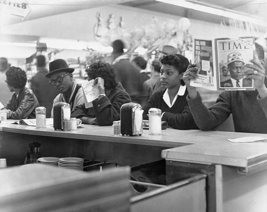 The system isn't or hasn't been rigged for white supremacy? Did whites have to risk their well being to desegregate lunch counters, as these young people at Texas Southern University did on March 4, 1960 at Weingarten's lunch counter in Houston? Photo: Owen Johnson /Houston Chronicle / © Houston Chronicle