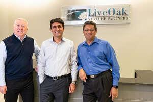 From left to right, Ben Scott, Krishna Srinivasan and Venu Shamapant with LiveOak Venture Partners.