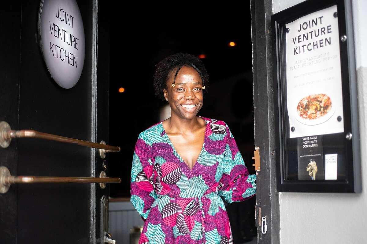 Simileoluwa Adebajo, who quit her job in finance to launch Eko Kitchen in San Francisco.