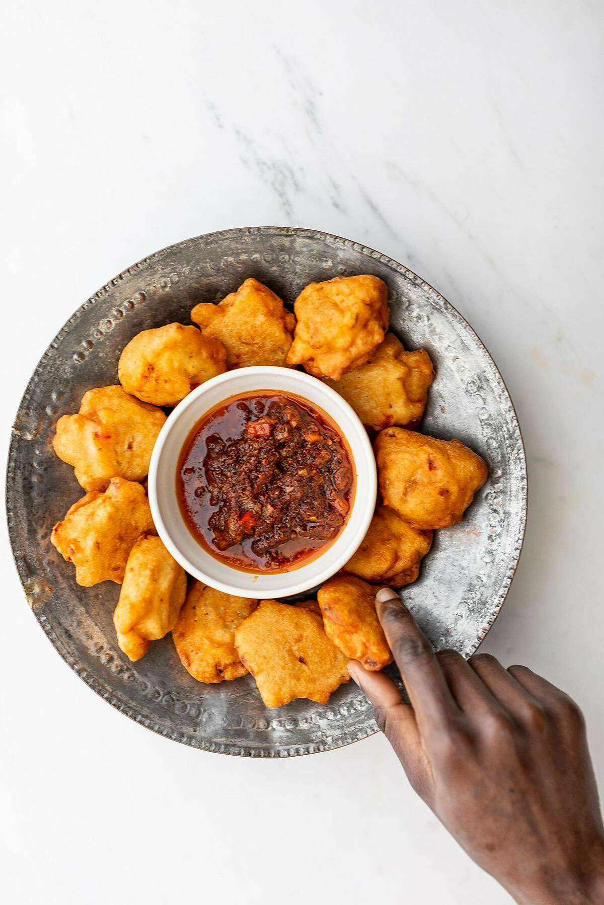 A dish from Eko Kitchen is pictured in an undated handout photo provided by proprietor Simileoluwa Adebajo. (Photo by Reed Davis, Handout)