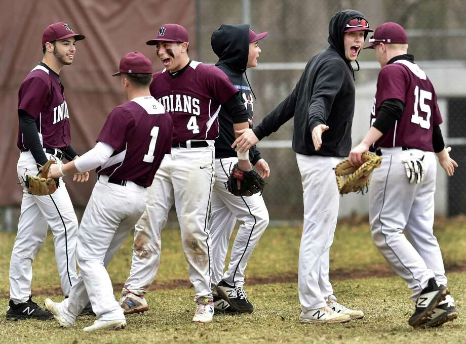 North Haven, Connecticut - Monday, April 8, 2019: North Haven H.S. baseball vs. Amity H.S. Monday afternoon at North Haven. Photo: Peter Hvizdak / Hearst Connecticut Media / New Haven Register