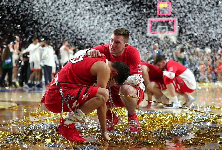 Davide Moretti #25 of the Texas Tech Red Raiders reacts after his teams 85-77 loss to the Virginia Cavaliers during the 2019 NCAA men's Final Four National Championship game at U.S. Bank Stadium on April 08, 2019 in Minneapolis, Minnesota. (Photo by Tom Pennington/Getty Images) Photo: Tom Pennington, Getty Images