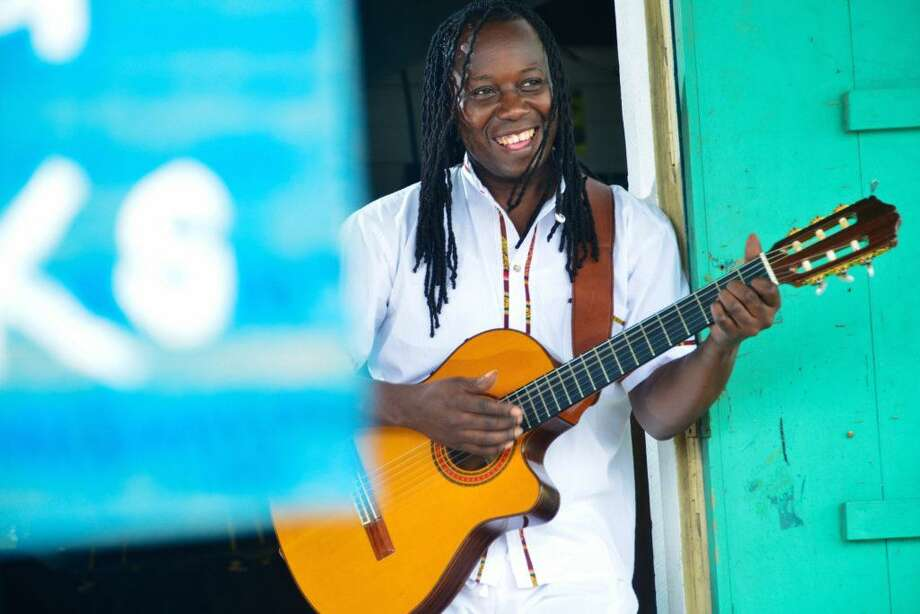 Aurelio Martinez & the Garifuna Soul Band perform at Miller Outdoor Theatre on Friday.