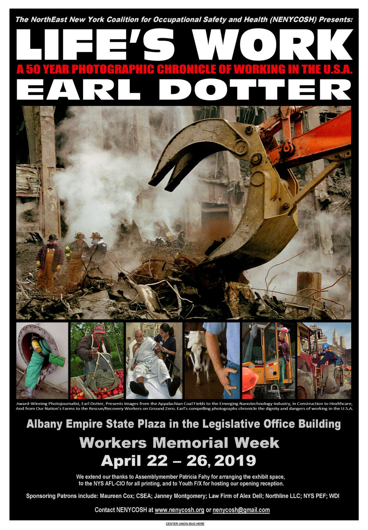 """""""Life's Work,"""" Earl Dotter's 50-year retrospective exhibit of his photojournalism documenting American workers, is coming to Albany April 22-26."""