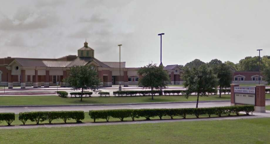 An Alexander Middle School student allegedly brought an unloaded gun to campus April 8. Photo: Google Maps