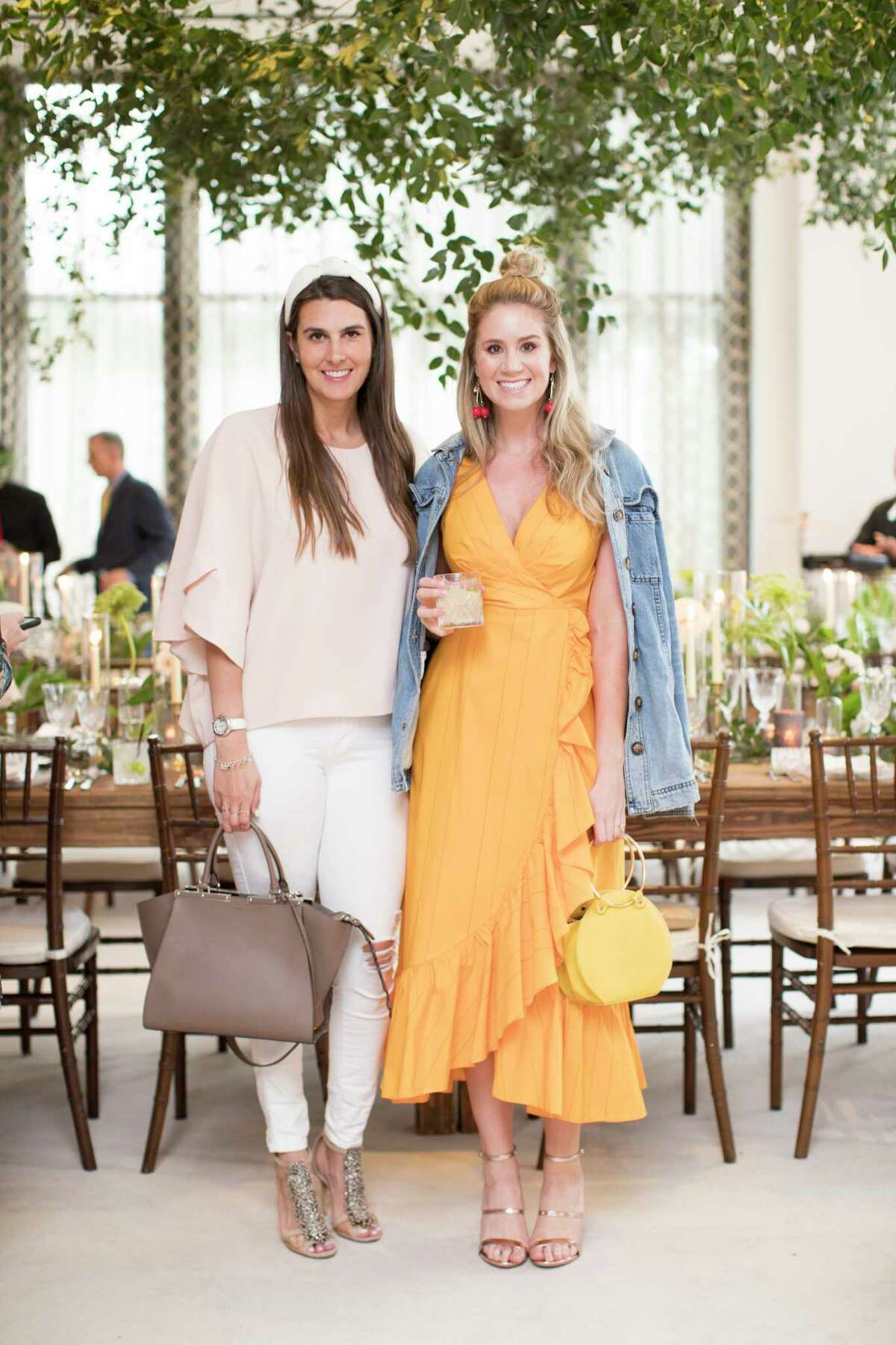 Kathryn Swain and Allison Robertson attend a dinner party at Tootsies on Thursday, March 28, 2019, in Houston.