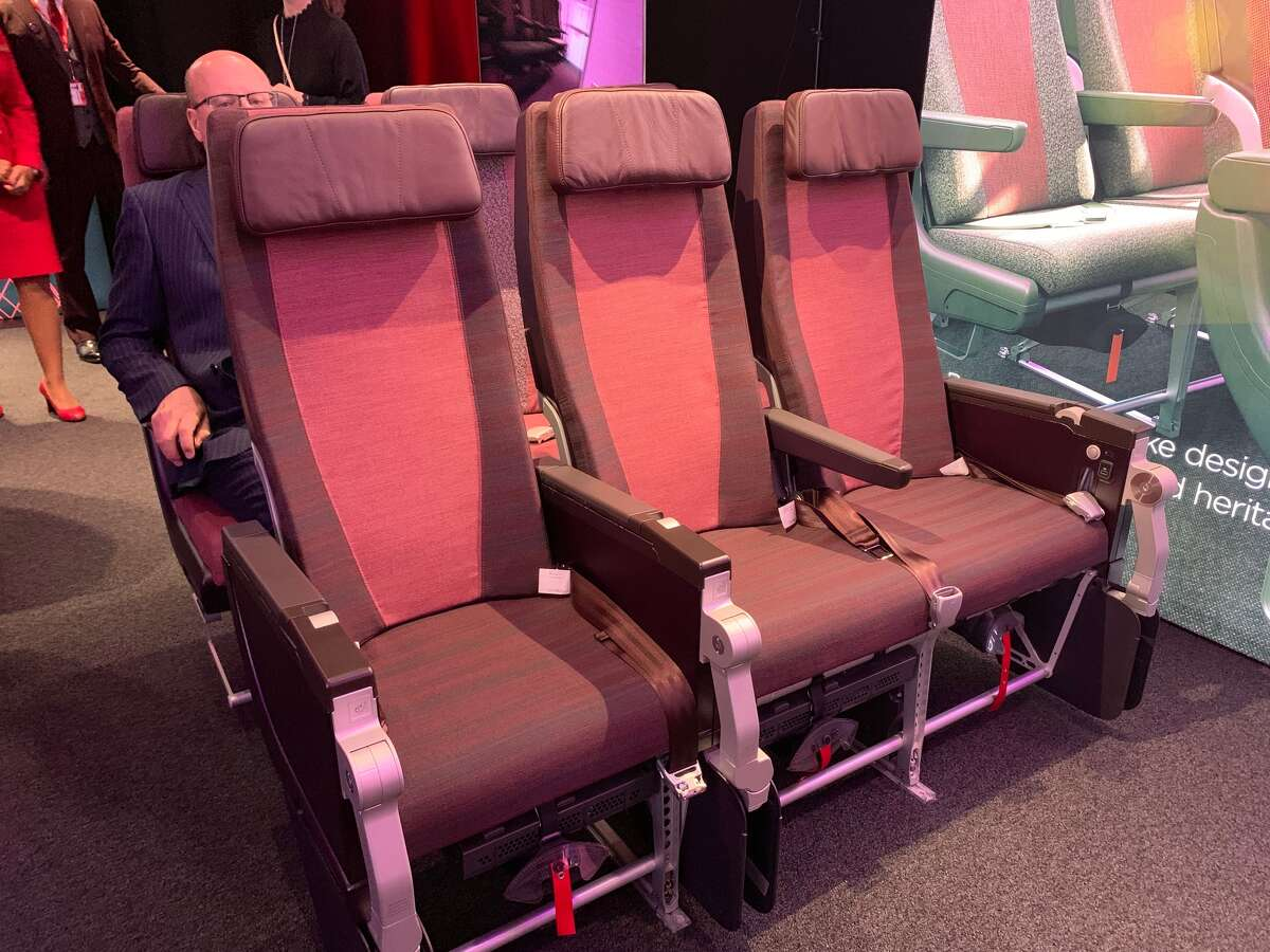Virgin showed off its new Economy class seats at a media-only reveal in London in April 2019