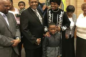 Councilman and Bishop Vance Cotten Sr. with his family.