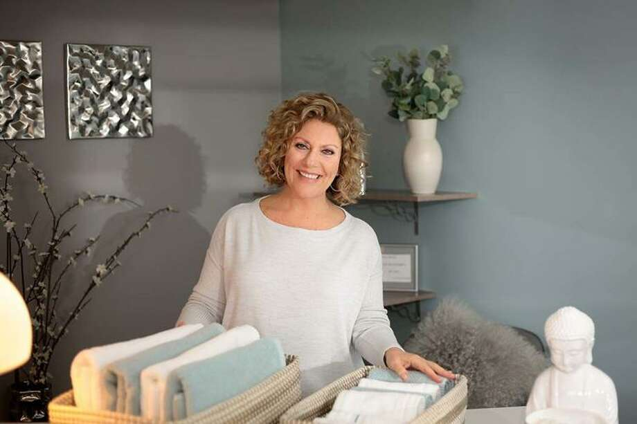 Christine Thorn, owner of interior design firm Sage of Interiors in Wolcott Photo:  Brenda Tate Portraits