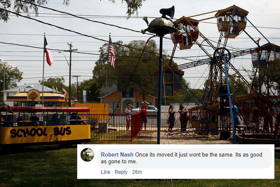 Locals react to news of the Kiddie Park moving to the San Antonio Zoo this summer after nearly 100 years at its original location at 3015 Broadway St. Photo: LISA KRANTZ/SAN ANTONIO EXPRESS-NEWS