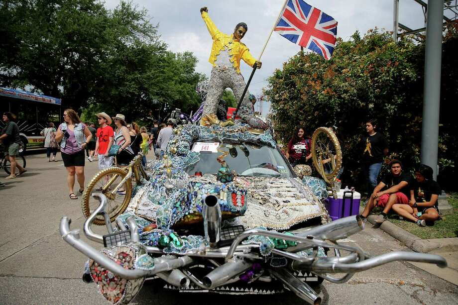 Houston Art Car Parade2 p.m. April 11-14, @ DowntownA lineup party for the parade starts at 11 a.m. Saturday at Allen Parkway and Heiner Street. ( Yi-Chin Lee / Houston Chronicle ) Photo: Elizabeth Conley, Staff / Houston Chronicle / Stratford Booster Club
