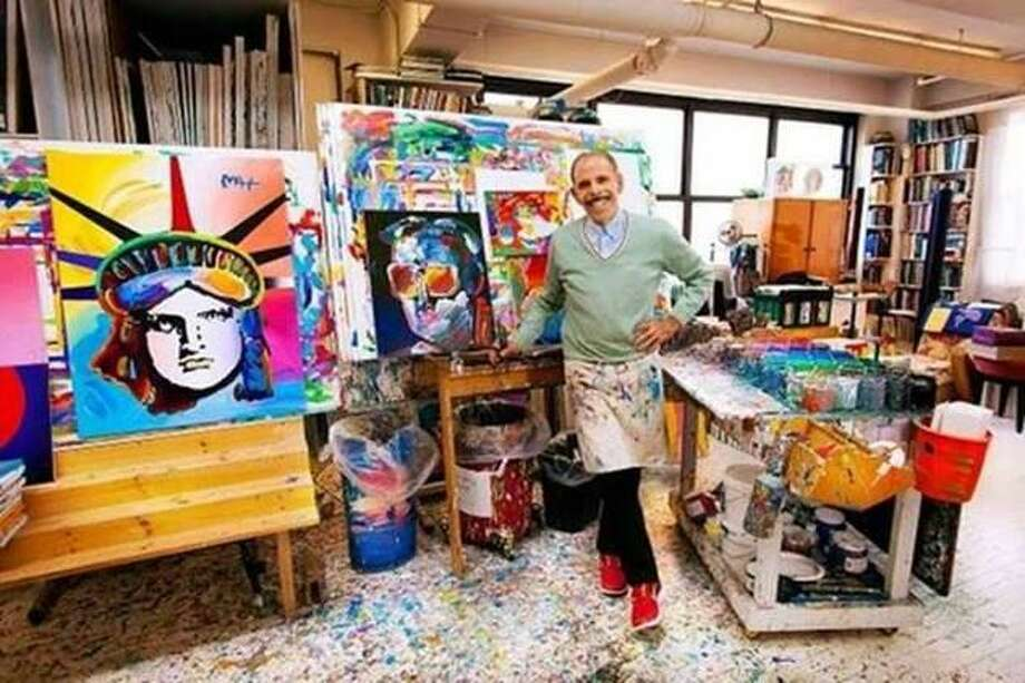 Artist Peter Max in his studio. Photo: © Peter Max 2019 / Geary Gallery