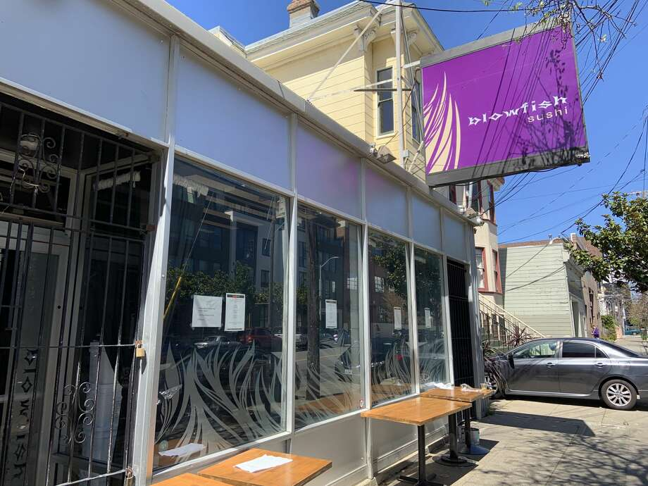 Blowfish Sushi at 2170 Bryant St. in San Francisco's Mission District closed in April 2019. Photo: Amy Graff