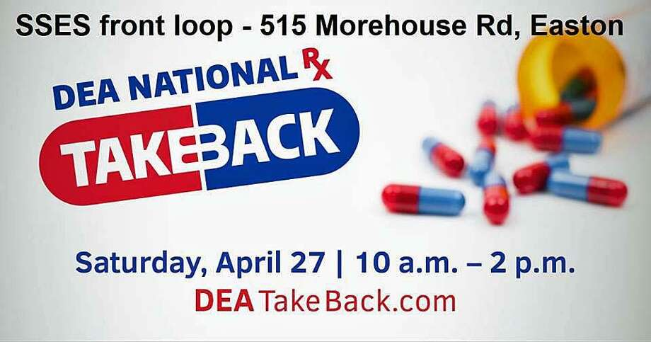 The event runs from 10 a.m. to 2 p.m. at Samuel Staples Elementary School on Morehouse Road. The drug take-back is meant to get unused or expired prescription out of homes. Photo: Contributed Photo / Easton Police Department / Contributed Photo / Connecticut Post Contributed